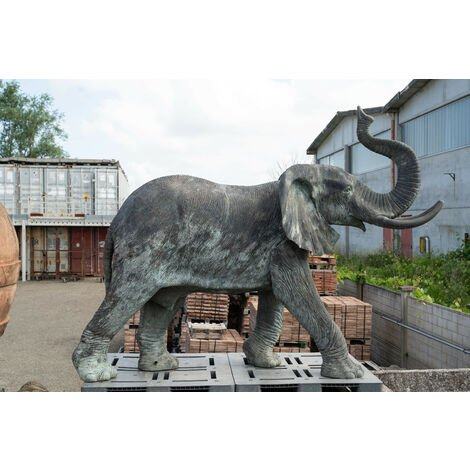 Bronze cast elephant W320xDP120xH210 cm sized