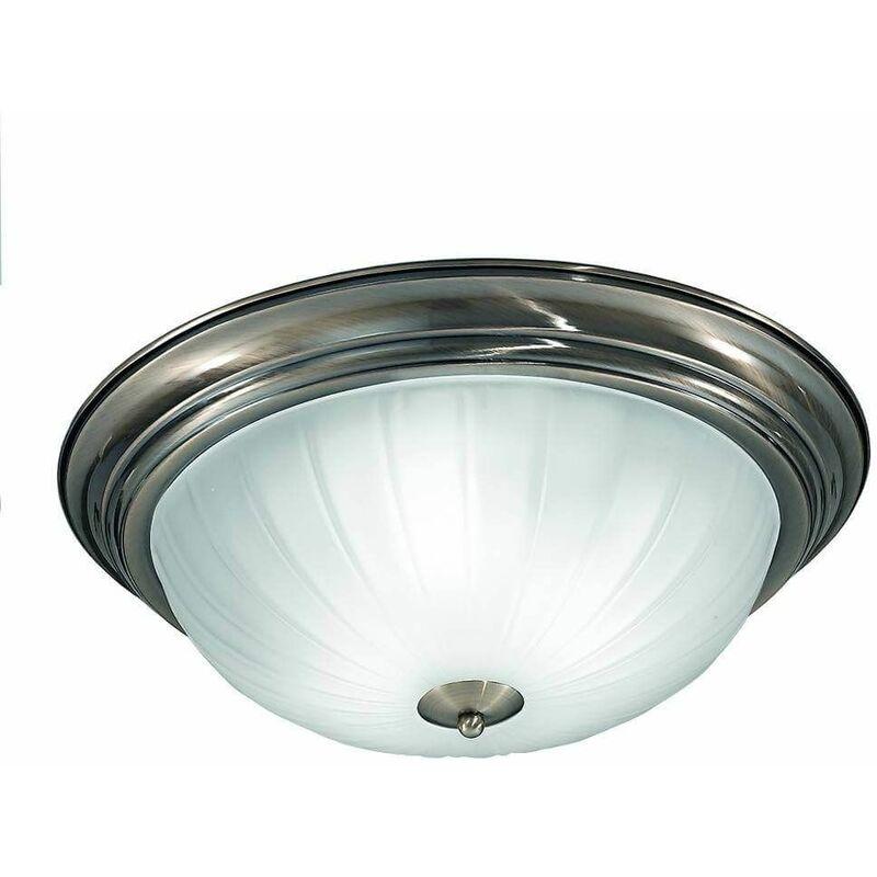 Image of Bronze ceiling lamp 3 Bulbs Diameter 39 Cm