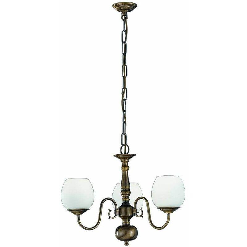 Image of Bronze pendant light Hall 3 Bulbs