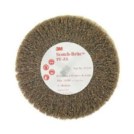 Brosse 3M scotch-brite PF-ZS medium diamètre 100 mm x 1