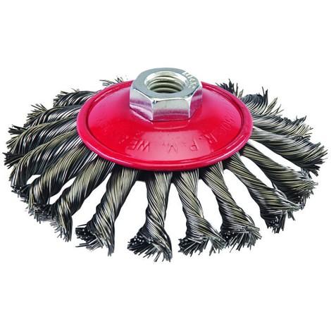 Brosse à fils d'acier torsadés Choix du modèle 115 mm