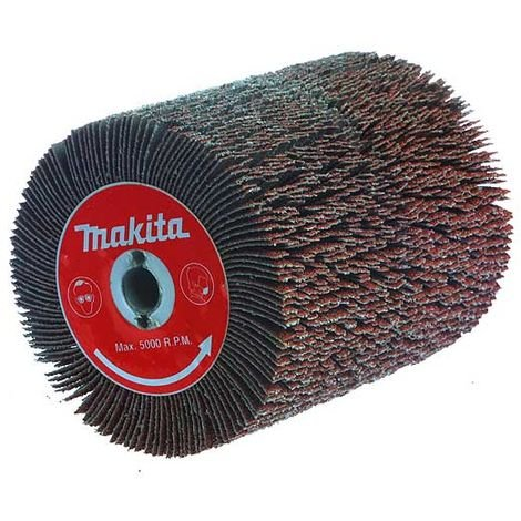 """main image of """"MAKITA Brosse abrasive à lamelles fendues pour décapeur à rouleau 9741"""""""