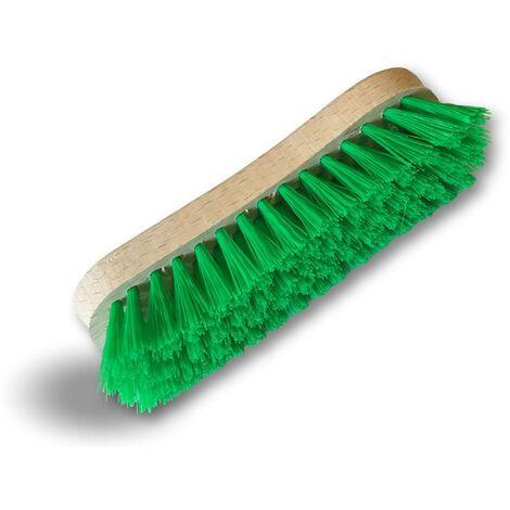 Brosse à laver et récurer PPL vert - Monture bois - Nettoyage, brossage pont mur sol carrelage - Quantité x 3 - PPL vert
