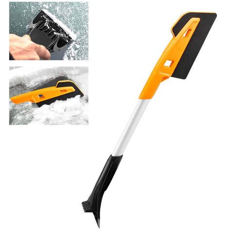 Brosse à neige et fouet amovibles pour voiture Grattoir à glace et dégivrage EVA brosse à neige à long manche Pelle à glace Pelle à neige multifonctionnelle