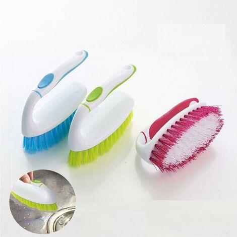 Brosse a Nettoyage- à récurer en plastique avec poignée facile à prendre en main,Pour nettoyer et frotter le sol de la cuisine, de la salle de bain et de la vaisselle (2pcs)