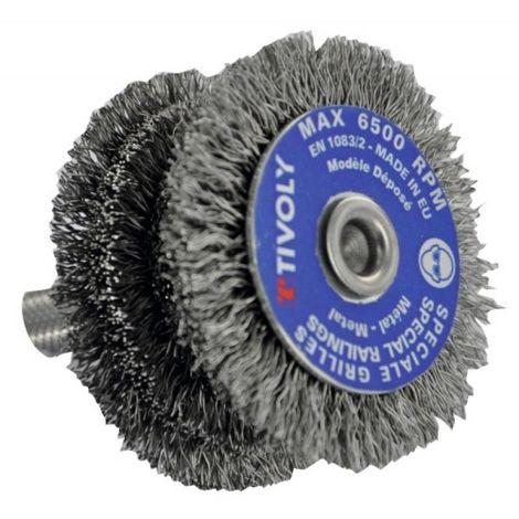 Brosse circulaire acier spécial barreaux diamètre 60 mm fil de diamètre 0,35 mm