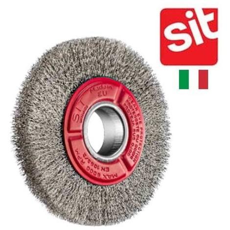 brosse circulaire Sit acier ondulé pour touret 150 mm