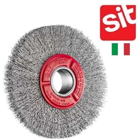 brosse circulaire Sit acier ondulé pour touret 200 mm