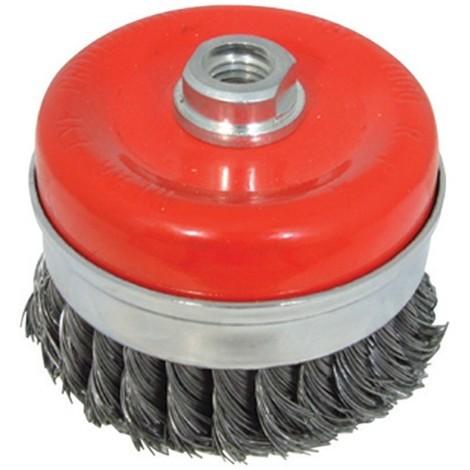 Brosse coupe à fils d'acier torsadés - 100 mm