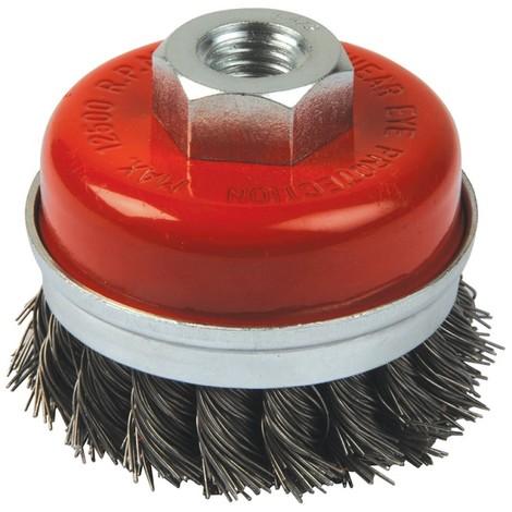 Brosse coupe à fils d'acier torsadés - 80 mm