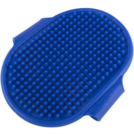 Brosse de bain en mousse pour animaux de compagnie, peigne à shampoing de toilettage, brosse pour cheveux propres et peau de massage pour chiens ou chats (bleu)