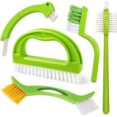 Brosse de nettoyage 5 en 1 pour joints de cuisine, salle de bain, fenêtres
