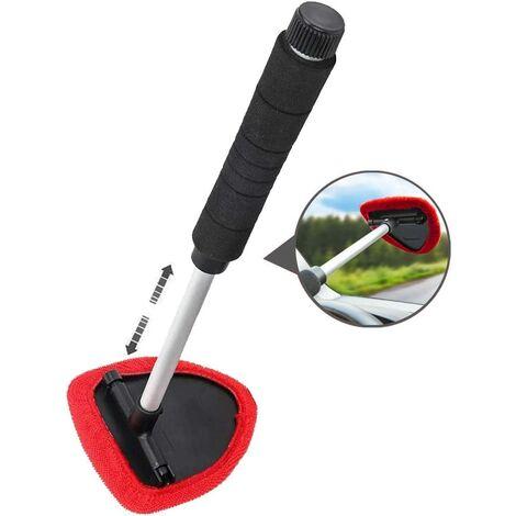 Brosse de nettoyage de pare-brise de voiture, outils de nettoyage de pare-brise de voiture à partir d'outils de nettoyage de vitres de fenêtre intérieure idéal pour l'élimination du brouillard et de l'humidité