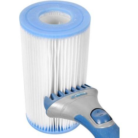 Brosse de nettoyage filtre spa ou cartouche piscine