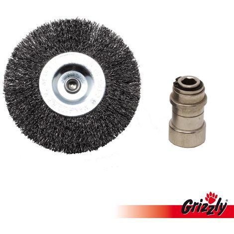 Brosse de rechange, brosse ronde en métal pour brosse universelle Grizzly Tools , grattoir à joint électrique ERB 550-1H, Grizzly ERB 550-2S, Grizzly ERB 550-3U