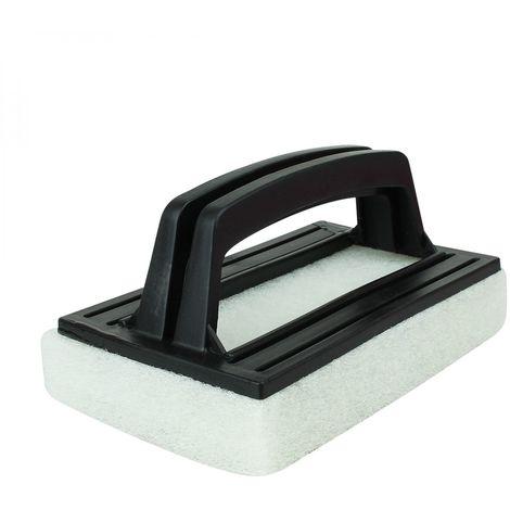 Brosse, éponge ligne d'eau avec poignée pour piscine - 8.5 cm x 14.5 cm - Noir - Linxor