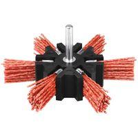 Brosse éventail nylon abrasif sur tige SCID - Diamètre 100 mm - Rouge