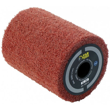 Brosse fibre synthétique pour satiner 80x100 mm pour rénovateur REX 80 FATOOLS