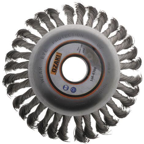 Brosse métallique 150 X 25.4mm pour débroussailleuse jusqu'à 40cc