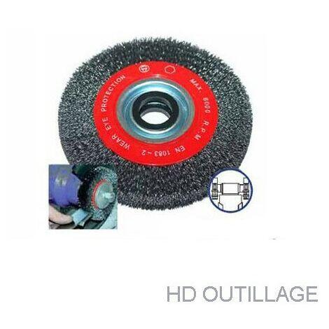 brosse métallique circulaire 178 mm pour touret   178 mm