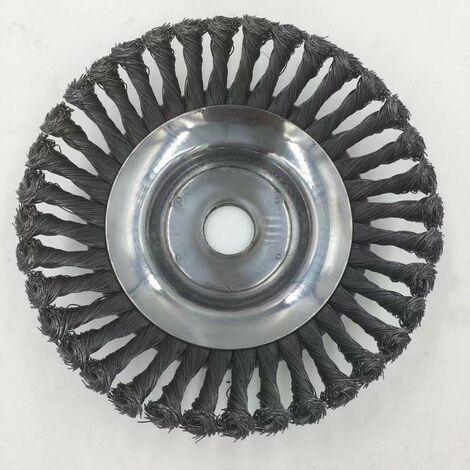 Brosse métallique fil acier coupe Herbes Enlèvement Tête Pour Débroussailleuse tondeuse à gazon 150mm Diamètre SwagX