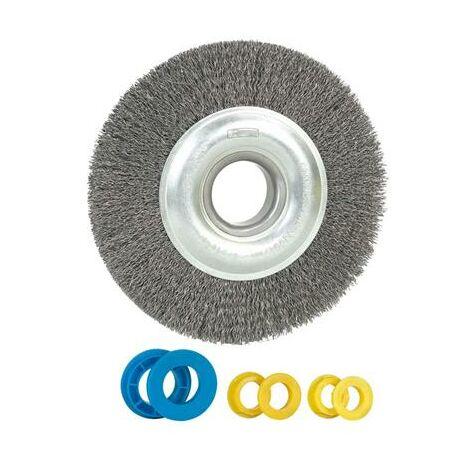 Brosse métallique pour touret diamètre 150mm