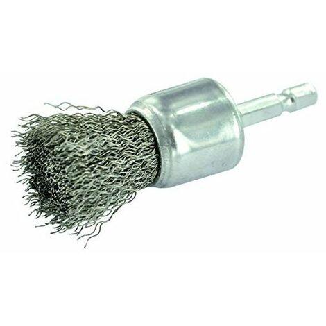 BROSSE PINCEAU TECHNIC TIVOLY fil inox - décapage de l'inox, métal 24 pour perceuse