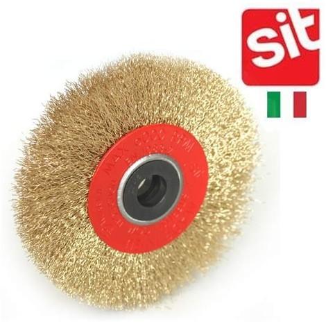 brosse Sit acier laitoné circulaire pour touret 125mm
