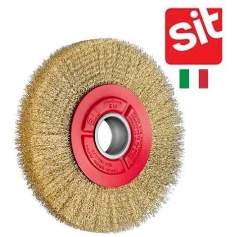"""main image of """"brosse Sit acier laitoné circulaire pour touret 200 mm"""""""