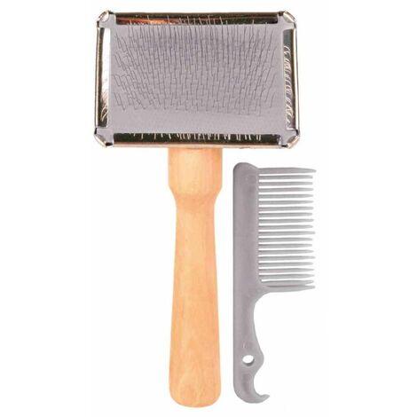 Brosse souple avec peigne de nettoyage