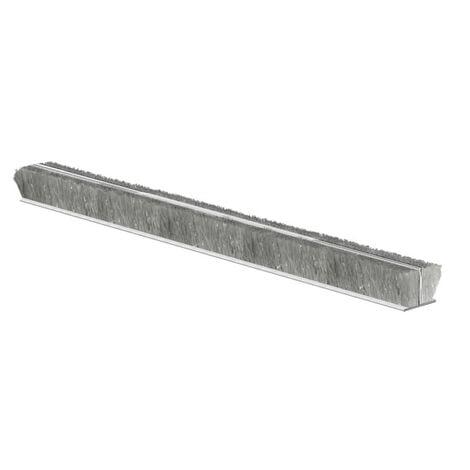 Brosse velours adhésive pour menuiseries PVC et ALU espace 4-7 mm en rouleau de 7.5 ml