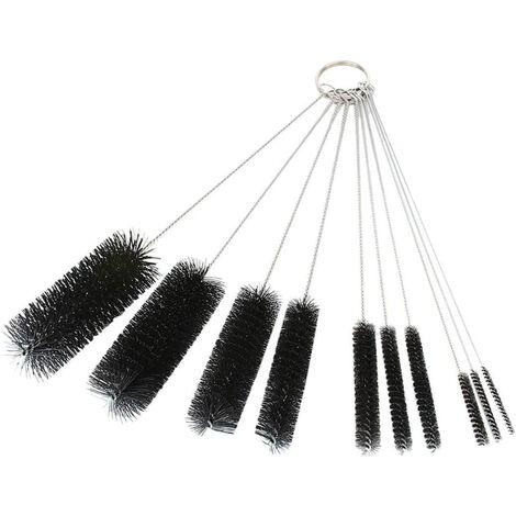 Brosses de nettoyage DXG, ensemble de brosses pour tubes en nylon de 8,2 , ensemble de cure-pipes pour pailles, lunettes, claviers, nettoyage de bijoux, lot de 10