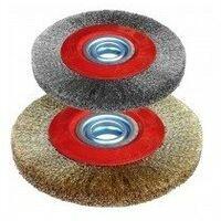 Brosses pour touret boîte 1 brosse disque diamètre:150 mm epaisseur:20 mm alésage:16 mm