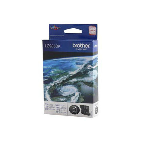 Brother Cartouche pour Imprimante jet d'encre - Noir - 300 pages - LC-985BK (LC985BK)