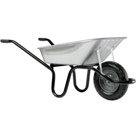 Brouette 100 litres caisse galva roue gonflée Aktiv Premium
