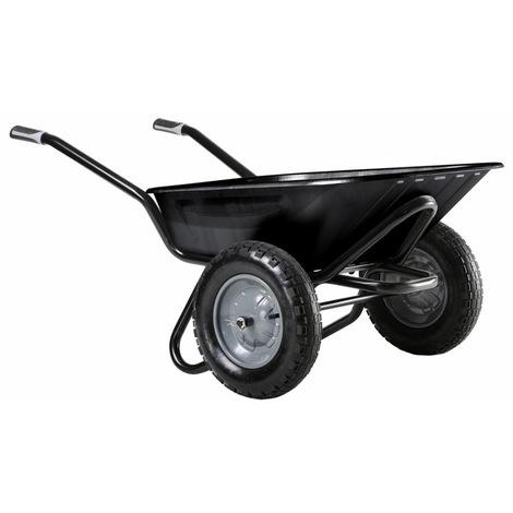 Brouette Aktiv Excellium 100 L Twin peinte roue gonflée