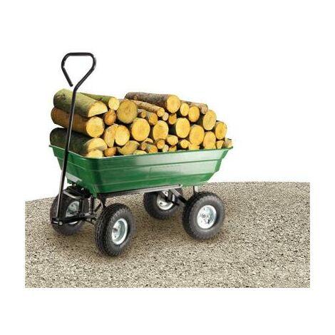 Brouette chariot de jardin 100l 200kg avec benne basculante