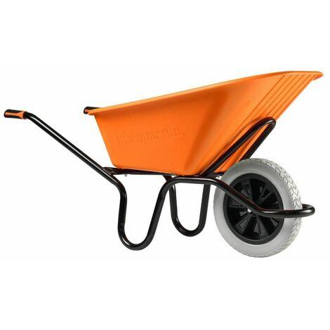 Brouette crusader bâtiment roue increvable HAEMMERLIN - 305210101 - - - orange