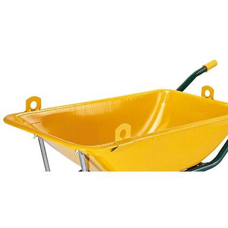 Brouette de construction professionnelle 90Lt m�tal jaune C1/550 Theca