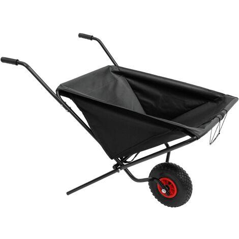 Brouette de jardin pliable chariot de transport feuilles paille foin grumes 56 L