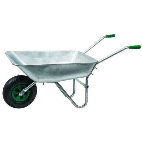 Brouette en acier galvanisé avec roue gonflée Werkapro