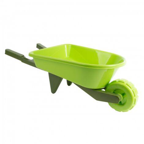 Brouette enfant en plastique - L 28,4 x l 65,8 x H 19,5 cm - Vert - Livraison gratuite
