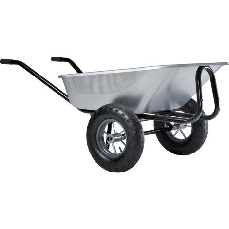 Brouette Expert Twin Galv. 150 L, Roue gonflable