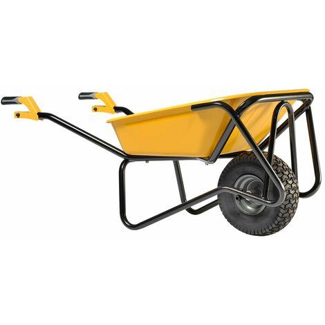 Brouette Flexi UP 100L peinte roue gonflée