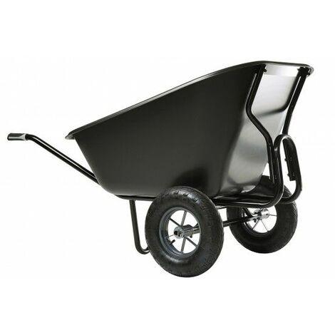 Brouette HAEMMERLIN EXPERT TWIN EXCELLIUM 300L Polypro Roues Gonflées Noire - 306060001 - - - Noir