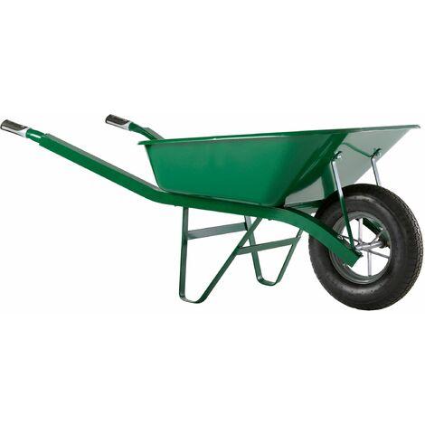 Brouette Haemmerlin Pro Select Bati Plus 100L Peinte Verte Roue Gonflée -302334106 - - - Vert