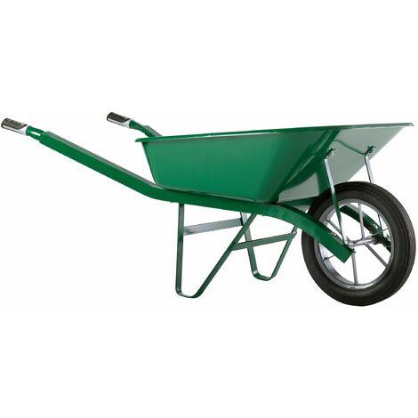 Brouette Haemmerlin Pro Select Bati Plus 100L Peinte Verte Roue Pleine -302334006 - - - Vert