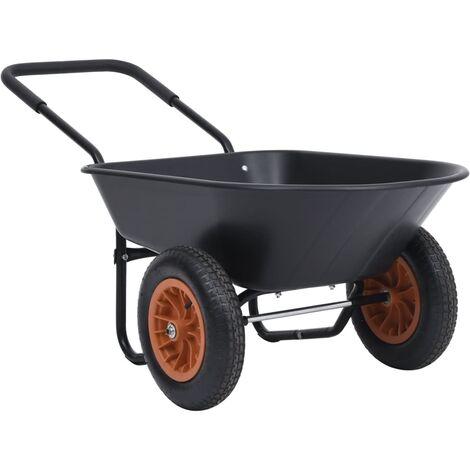 Brouette Noir et orange 78 L 100 kg