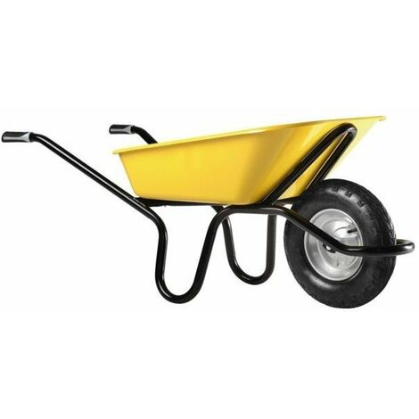 Brouette renforcee aktiv excellium 1051mg roue gonflee 100lpeint jaune