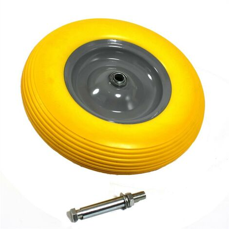 Brouette roue brouette caoutchouc plein PU 4.80 / 4.00-8 Pneu 400 mm